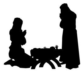 Nativity Scene Silhouettes