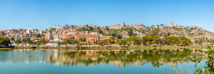 Panorama view at the Antananarivo from Anosy lake