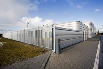 Secure metal industrial building