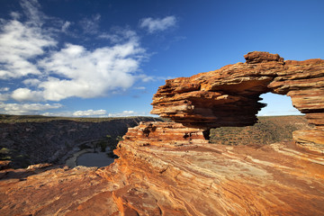 Nature's Window rock arch in Kalbarri NP, Western Australia