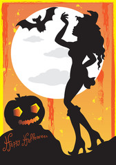 Happy Halloween - Manifesto per Halloween Party con Spazio per Testo