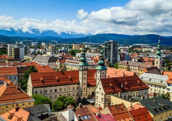 View over Landhaus and city of Klagenfurt