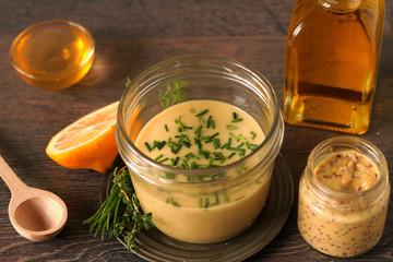 Homemade honey mustard dressing