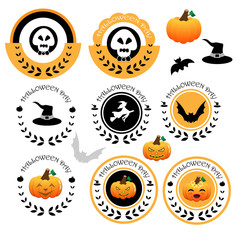 Halloween banner and icon  vector