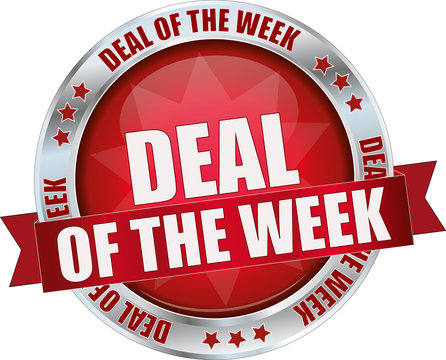 modern red deal of the week sign