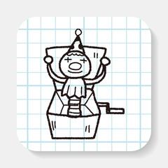 clown box doodle