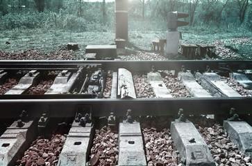 Detail of railway junction