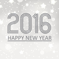 happy new year 2016 on grayscale stars background eps10