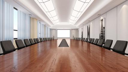 Konferenzraum mit Tisch aus Holz