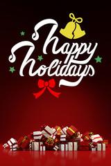 Weihnachtskarte mit Happy Holidays
