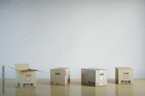 viele umzugskarton bei umzug stockfotos und lizenzfreie bilder auf bild 91340812. Black Bedroom Furniture Sets. Home Design Ideas
