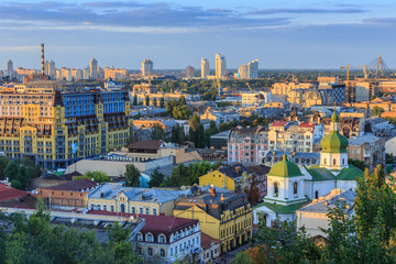Kyiv city from the Castle Hill