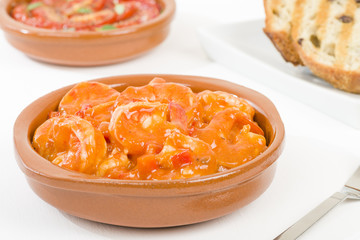 Camarones Enchilados - Cuban style shrimp in a tomato based sauce.