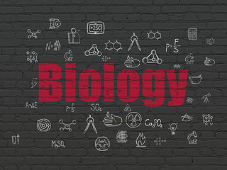 Science concept: Biology on wall background