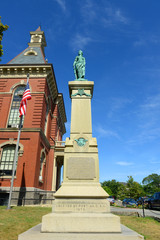 Gloucester City Hall was built in 1870 with Victorian and Second Empire style. The building is served as the center of Gloucester government in downtown Gloucester, Massachusetts, USA.