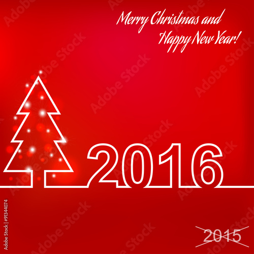 Merry christmas and happy new year 2016 creative greeting card merry christmas and happy new year 2016 creative greeting card design template universal vector m4hsunfo