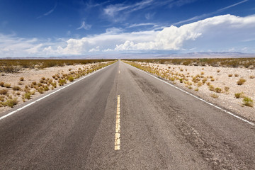 Open Road in Mohave Desert, CA