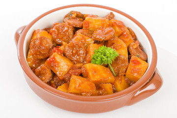 Patatas a la Riojana - Potato, chorizo and peppers stew.