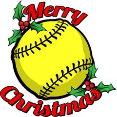 Softball Merry Christmas