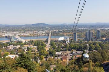 Portland Oregon Aerial Tram Public Transportation