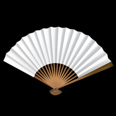 Fan with patterns