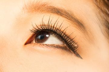 アジア人女性クローズアップ つけまつげAsian woman and false eyelashes