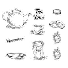 Set of tea elements