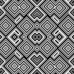 Seamless abstract black and white cubes background