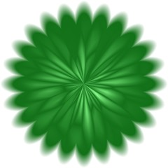 Abstract green dandelion circle background