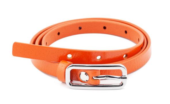 Orange woman belt isolated on white background
