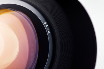 Digital camera lens close up
