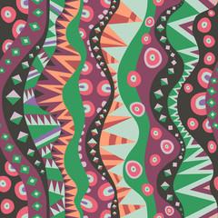 Seamless Motif With Vertical Tribal Aboriginal Pattern