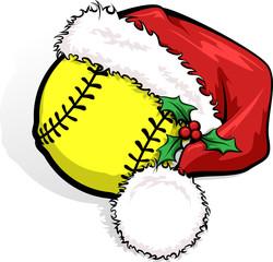 Softball Santa Cap