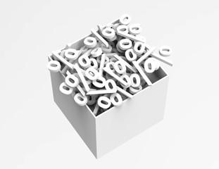 Percentage Symbols in box