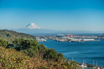 Mount Rainier And Port 3