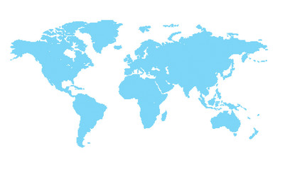 vector world map with blue circles