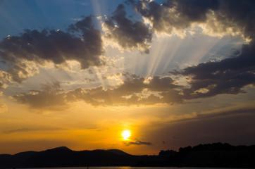 Foto op Aluminium Ochtendgloren Sonnenuntergang Mallorca