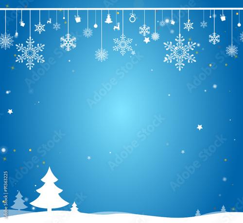 Weihnachtskarte Schnee\