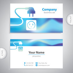 business card - repairman electrical appliances - consumer electronics