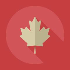 Flat modern design with shadow icons maple leaf