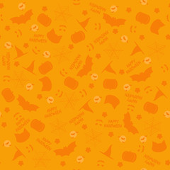 Seamless background in yellow and orange colours for Halloween