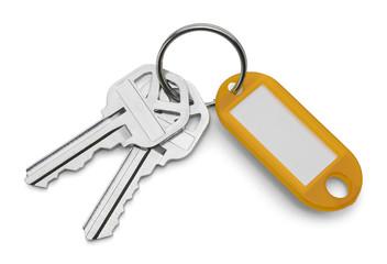 Keys and Yellow Key Chain
