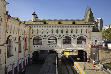 Railway station in Vladivostok. Russia