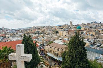 Jerusalem Old City from Austrian Hospice Roof
