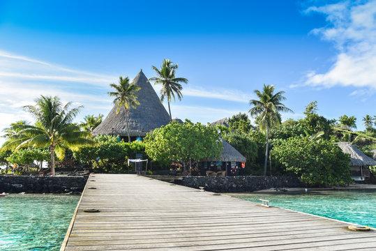 Ingresso albergo isola privata Bora Bora
