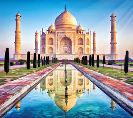 Foto op Canvas India taj painting