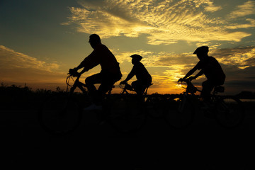 Group Cycling for Health silhouette