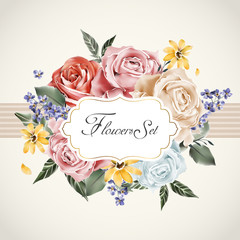 graceful floral card template