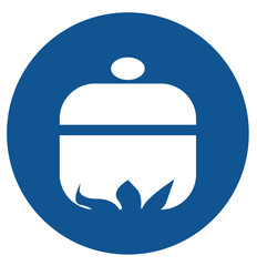 Casserole cooking vector icon image