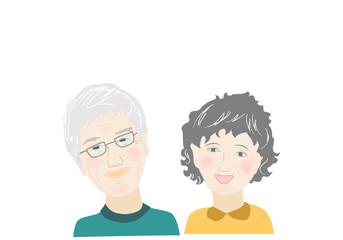 老夫婦、ライフスタイル、健康、生活、二人、シニア、人物